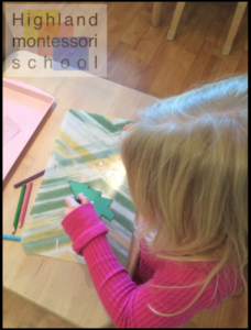 Perforating a shape in an exercise of fine motor skills, and patience.